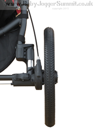 Baby Jogger Summit X3 Rear Wheel - click for larger image