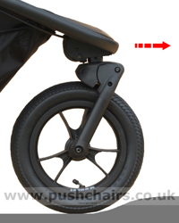Baby Jogger Summit X3 Front Wheel Suspension - click for larger image